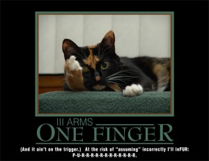 """You know what """"they"""" say about assuming. Especially true where animals with sharp claws are concerned."""
