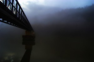 BridgeFoggyRiver