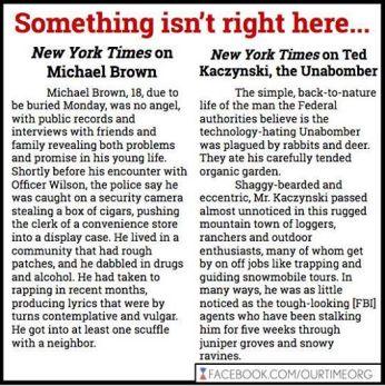 Poster_NYT_MichaelBrown_v_UniBomber